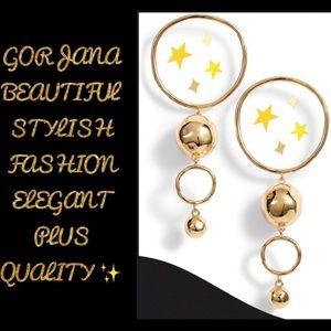 Makena Tiered Hoop Drop Earrings Metallic Gorjana